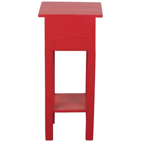 Shabby Chic Collection - Side table finished in antique red - back view CC-TAB1792LD-AR