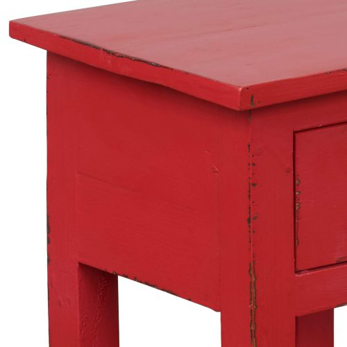 Shabby Chic Collection - Side table finished in antique red - detail of side construction CC-TAB1792LD-AR
