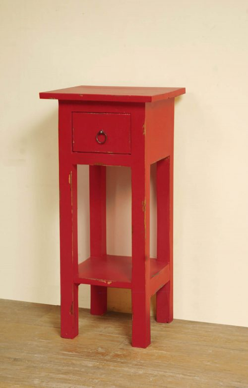 Shabby Chic Collection - Side table finished in antique red - room setting CC-TAB1792LD-AR