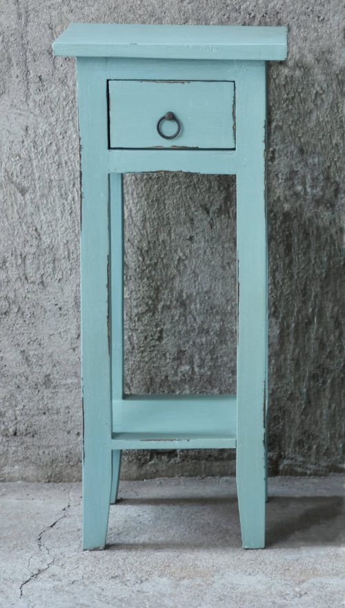 Shabby Chic Collection - Side table finished in distressed beach blue - room setting CC-TAB1792LD-BB