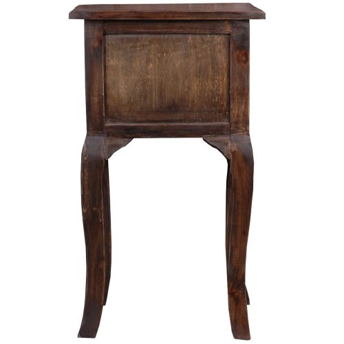 Shabby Chic Collection - Side table with two drawers finished in distressed Mahogany - back view CC-TAB1793S-VI