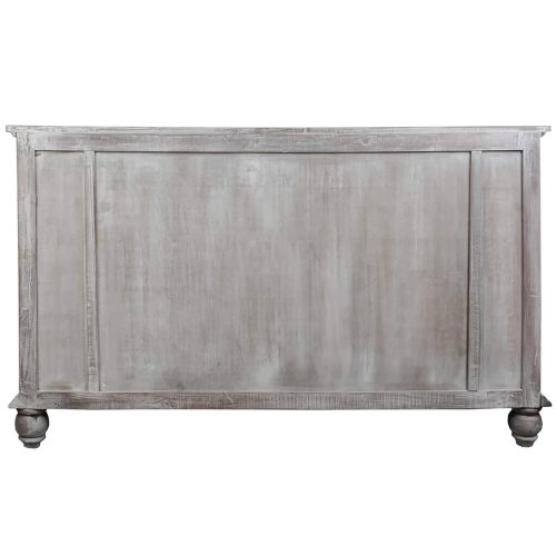 Shabby Chic Collection - Sideboard finished in distressed Gray wash - Back view CC-CAB1141S-LW