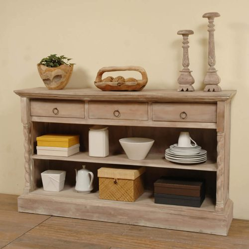 Shabby Chic Collection - Sideboard with drawers finished a light wash - room setting CC-CAB2235S-LW
