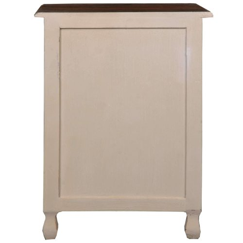 Shabby Chic Collection - Storage chest finished in two-tone with Mahogany top - back view CC-CHE502TLD-SMRW