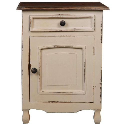 Shabby Chic Collection - Storage chest finished in two-tone with Mahogany top - front view CC-CHE502TLD-SMRW