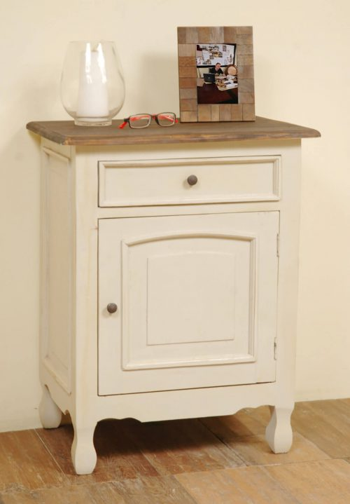 Shabby Chic Collection - Storage chest finished in two-tone with Mahogany top - room setting CC-CHE502TLD-SMRW