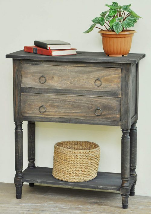 Shabby Chic Collection - Storage table with stacked drawers - room setting CC-TAB014TT-BWRW