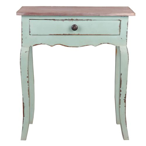 Shabby Chic Collection - Table finished in a lime wash - front view CC-TAB172TLD-BHLW