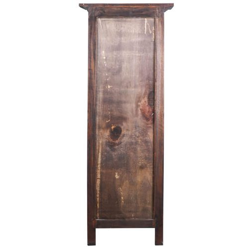 Shabby Chic Collection - Tall storage cabinet finished in rustic mahogany - back view CC-CAB1227S-RW
