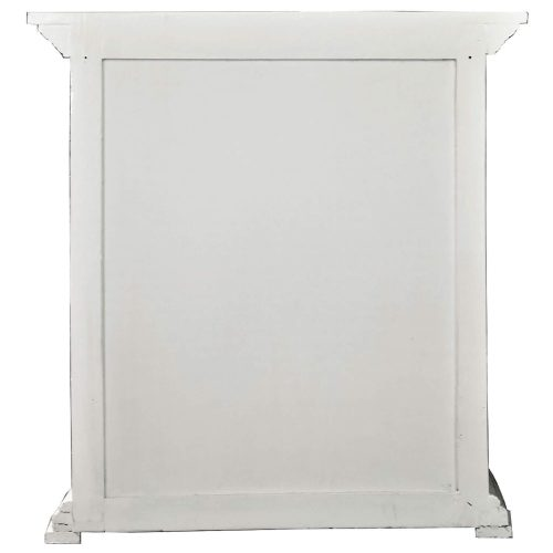 Shabby Chic Collection - Three drawer end table finished in distressed white - back view CC-CHE113LD-WW