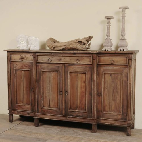 Shabby Chic Collection - Sideboard in distressed Raftwood - Room setting CC-CAB1113S-RW