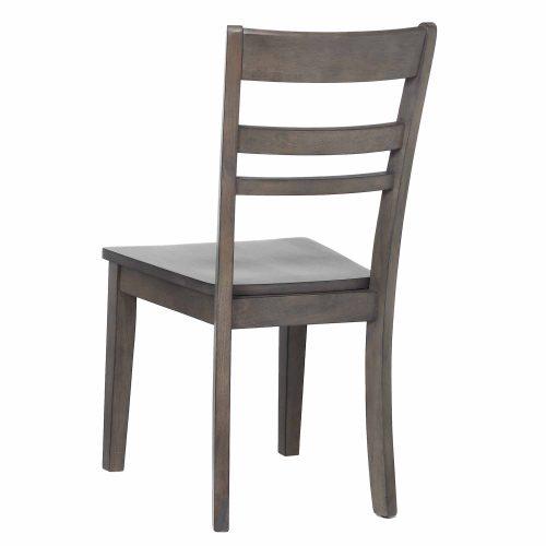 Shades of Gray - Slat back dining chair back view DLU-EL-C200-2