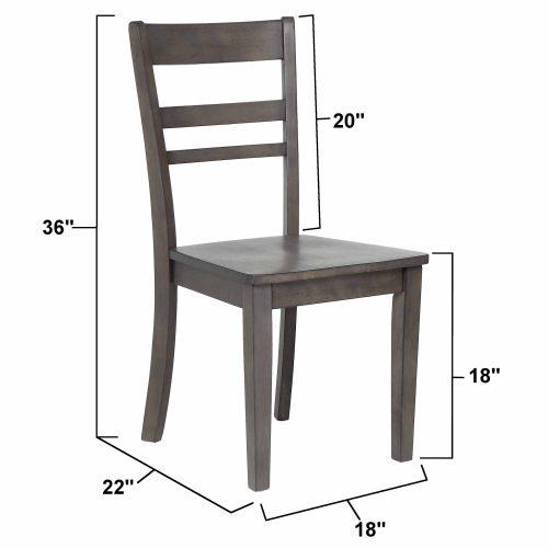 Shades of Gray - Slat back dining chair dimensions DLU-EL-C200-2