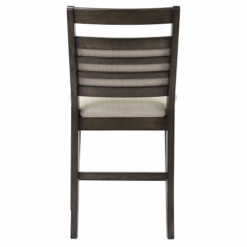 Shades of Gray - Upholstered Barstool - back view DLU-EL-B90-2