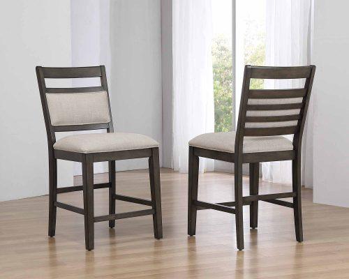 Shades of Gray - Upholstered Barstool - dining room setting DLU-EL-B90-2