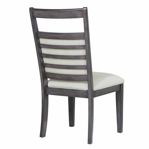 Shades of Gray - Upholstered slat back dining chair - back view DLU-EL-C90-2