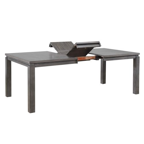 Shades of Gray - extendable dining table with butterfly leaf showing - three-quarter view DLU-EL9282