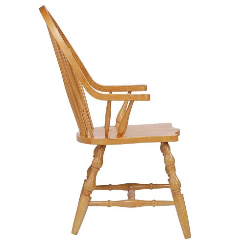 Windsor-Spindleback-Chair_Light-Oak-Side-view_DLU-C30A-LO