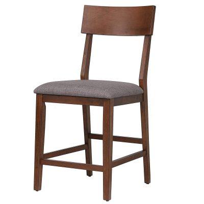 mid century dining collection - counter height bar stool - three-quarter view - DLU-MC-B45-2