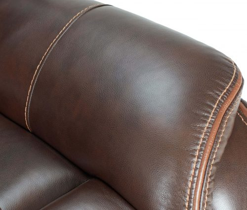 Avant Collection in Brown - Arm stitching and piping detail