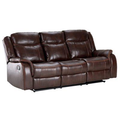 Avant Motion Sofa in Brown- Angled view- SU-AV8604041-305