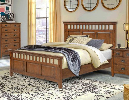 Mission Bay Collection-Queen/King Bed-angle view in bedroom-CF-4901-0877-QB
