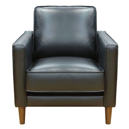 Prelude chair in black. Front view-SU-PR15070-80-100E