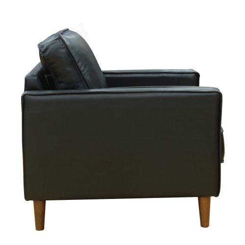 Prelude chair in black side view SU PR15070 80 100E