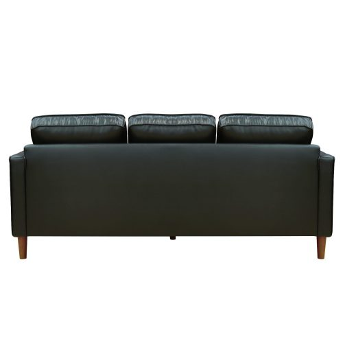 Prelude sofa in black-back view-SU-PR15070-80-300E