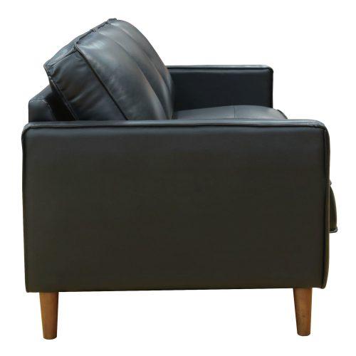 Prelude sofa in black-side view-SU-PR15070-80-300E