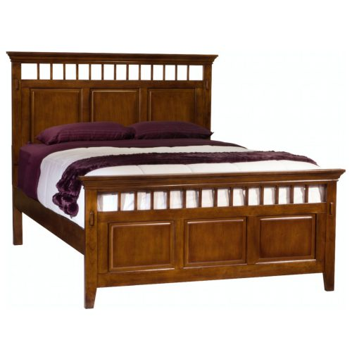 Tremont Bedroom Collection - Queen-size bed frame - angle view with mattress and boxspring- SS-TR900-Q-BED