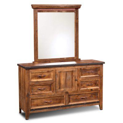 Rustic City Dresser Mirror - HH-4365-31-32