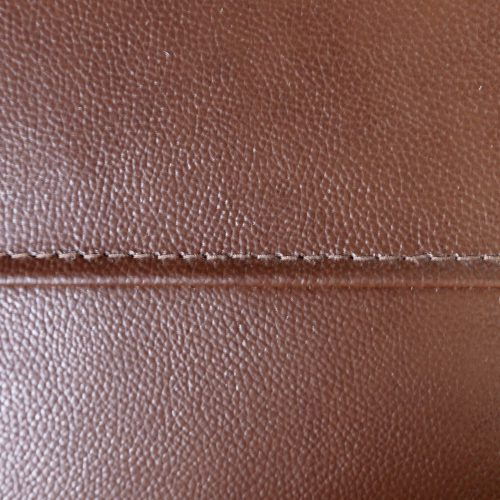 Jayson Collection - Leather Swatch and Stitching in Chestnut - SU-JH