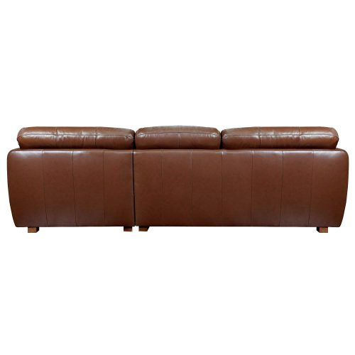 Jayson Right Facing Chaise Sofa in Chestnut - Back view - SU-JH3786-2P