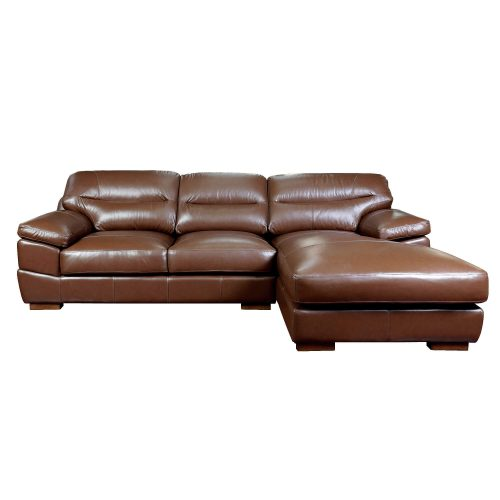 Jayson Right Facing Chaise Sofa in Chestnut - Front view- SU-JH3786-2P