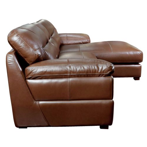 Jayson Right Facing Chaise Sofa in Chestnut - Side view - SU-JH3786-2P