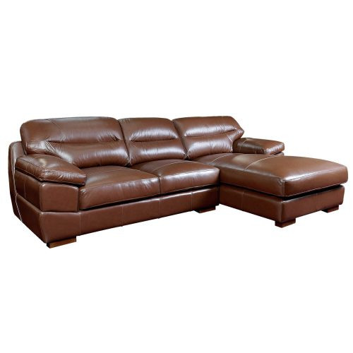 Jayson Right Facing Chaise Sofa in Chestnut - Three quarter view - SU-JH3786-2P